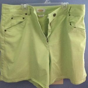 Talbots Line Green Shorts